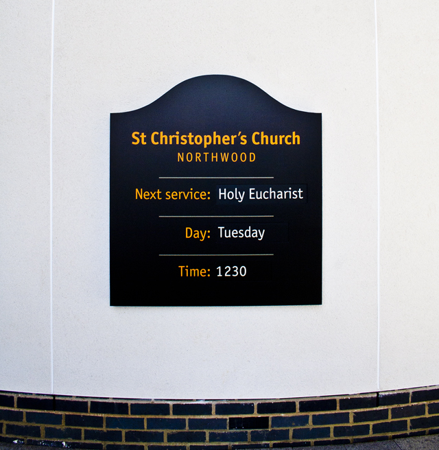 Northwood external church sign