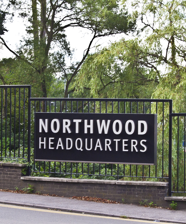 Northwood entrance sign